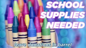BACK TO SCHOOL SUPPLIES @ Hope and Life