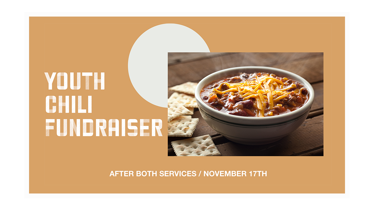 Youth Chili Fundraiser